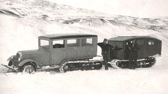Citroen Half-track with Camper
