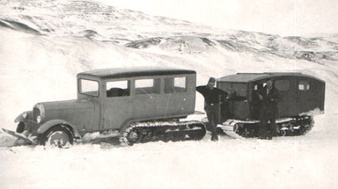 Citroen Half-track with Camper