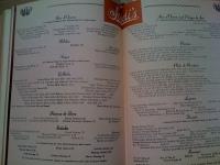 A Treasury Of Recipes - Vincent & Mary Price - Sardi's Menu