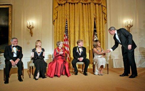 Massive George W. Bush Congratulates Hobbit Tina Turner