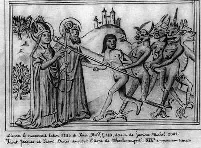 St James gives Charlemagne's soul a helping hand