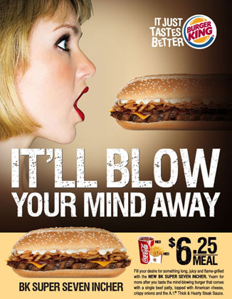 Which is more vomit inducing, the ad or the sandwich?