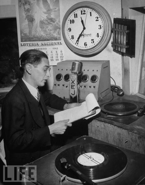 Radio Announcer, as photographed by LIFE