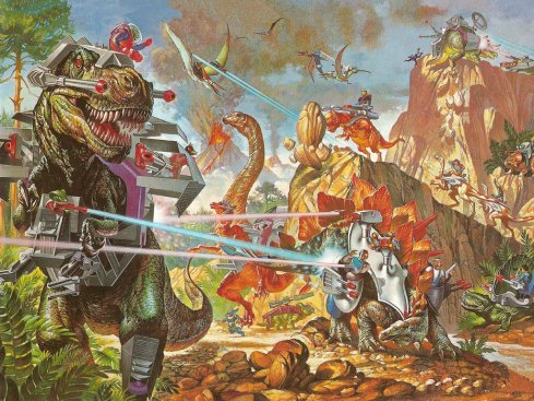 Image of the '80s cartoon & toy line, Dino-Riders