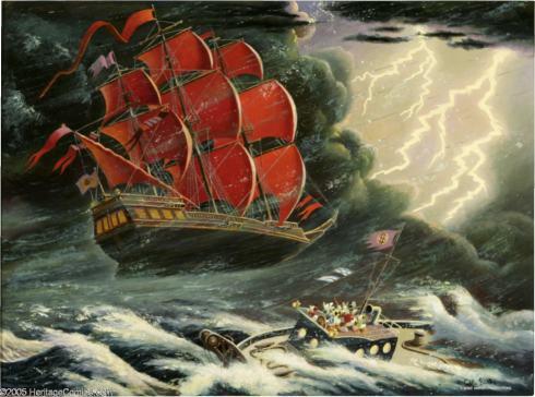 Carl Banks Oil Painting.
