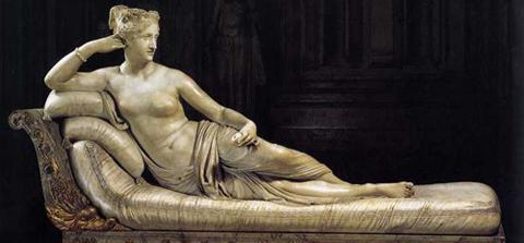 Antonio Canova's statue of Pauline Bonaparte as Venus Victrix