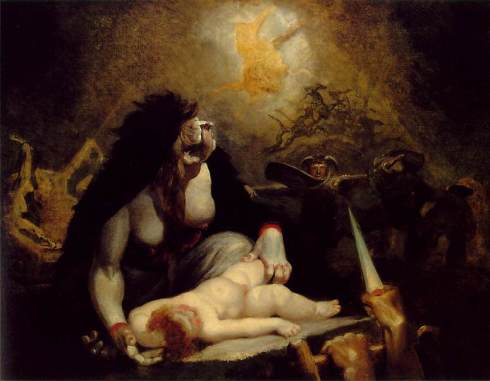 Fussli, Johann Heinrich (Henry Fuseli) - The Night-Hag Visiting the Lapland Witches c. 1796