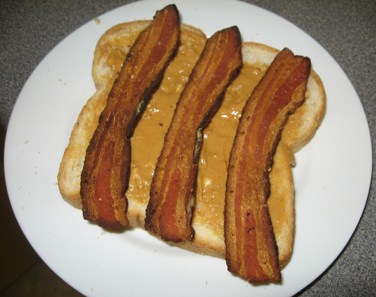Peanut Butter and Bacon Sandwich, from wikimedia.org/
