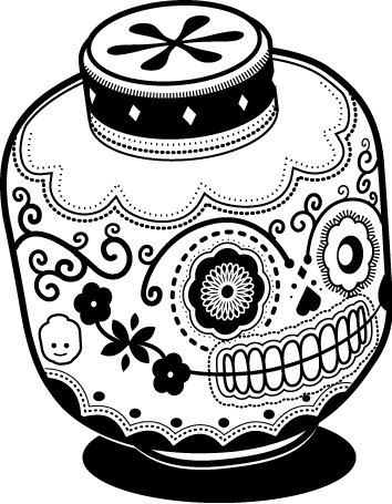 Lego Sugar Skull Illustration by Jonathan Koshi