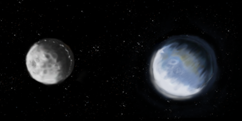 Earth & the moon