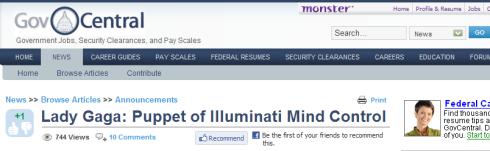 Lady Gaga Puppet Of Illuminati Mind Control