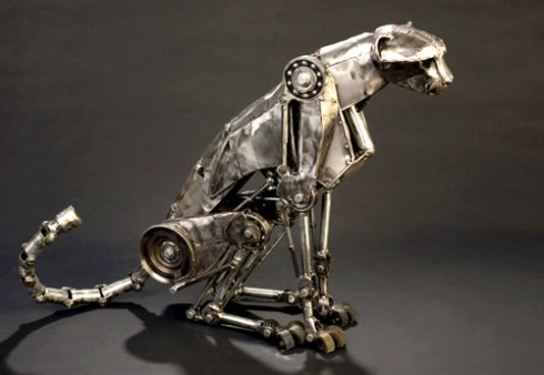 Steampunk Cheetah Statue by Andrew Chase (http://www.andrewchase.com)